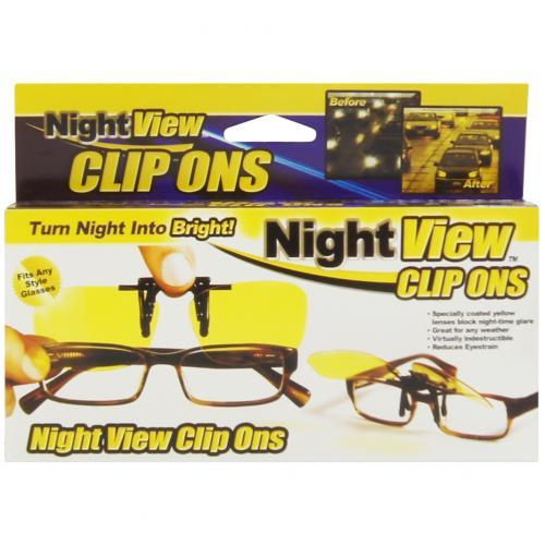 Антибликовые очки Night View Clip Ons оптом