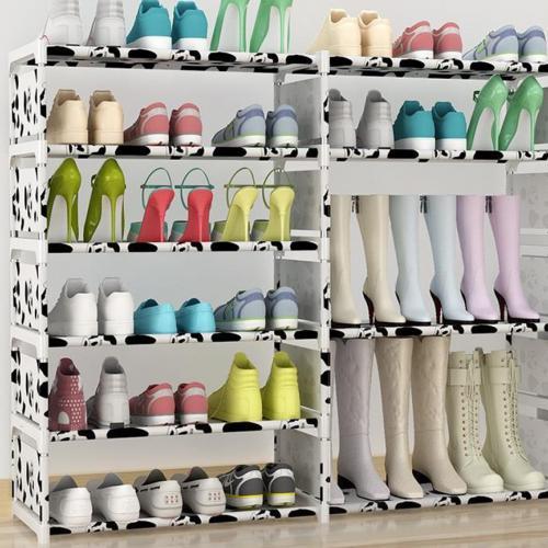 Стойка для обуви черно-белая оптом