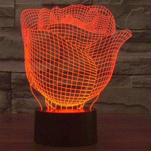 Светильник 3D Роза оптом