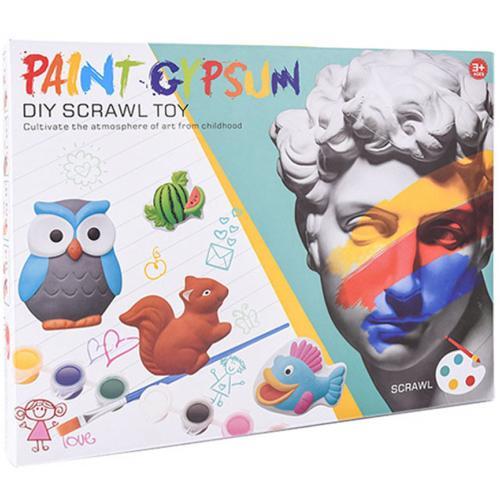 Набор гипсовых фигурок для раскрашивания Paint Gypsum оптом