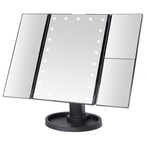 Косметическое складное зеркало с подсветкой оптом