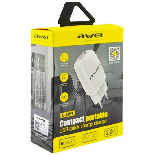 Сетевое зарядное устройство Awei C-821 оптом