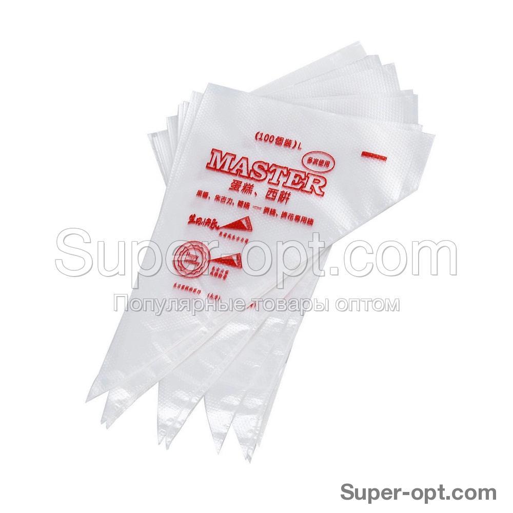 Набор одноразовых кондитерских мешков 35 см 100 шт оптом