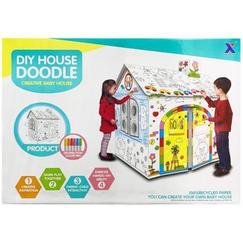 Игровой домик для раскрашивания DIY House Doodle оптом