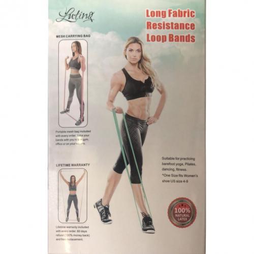 Тканевые фитнес-резинки 1 метр 3 шт Luting Pump  LT-2028, эспандеры с мешочком для хранения оптом