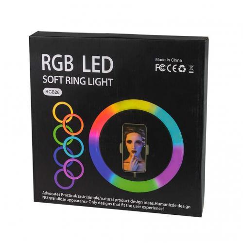 Кольцевая светодиодная лампа Soft Ring Light RGB26 оптом