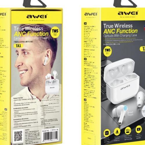 Беспроводные наушники TWS с низкой задержкой Awei TA1 оптом