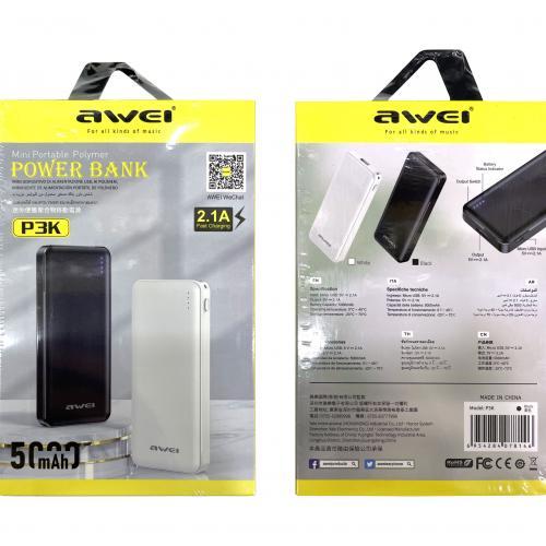 Power Bank Awei P3K 5000 mAh оптом