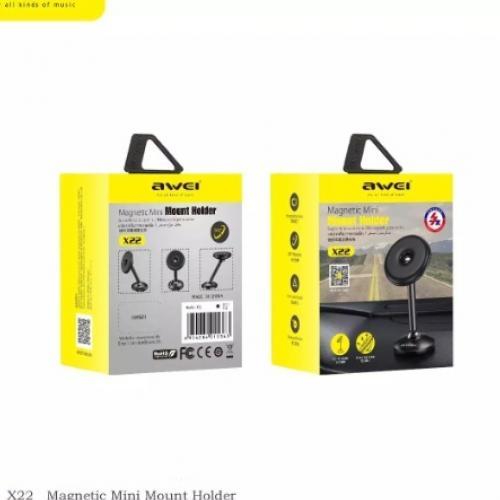 Aвтомобильный магнитный держатель для телефона Awei X22 оптом