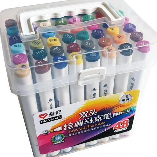 Набор двусторонних маркеров 48 цветов Sketch Marker PM514-48 оптом