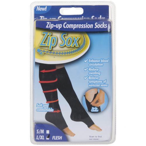 Компрессионные гольфы Zip Sox (черные) оптом