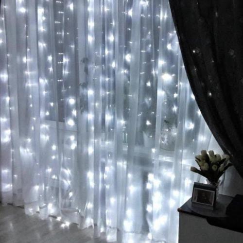 Светодиодная гирлянда - интерьерная штора2 х 2 метра белая оптом