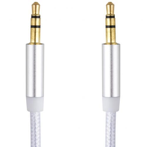 Аудио кабель AUX с оплеткой 3.5 мм оптом