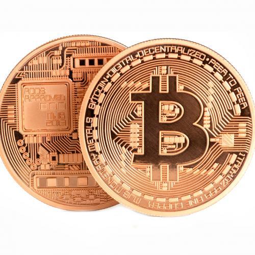 Сувенирная монета Bitcoin оптом