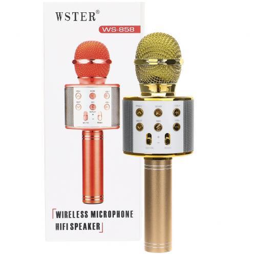 Мобильный караоке - микрофон WS - 858 оптом