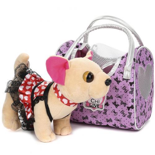 Плюшевая собачка Chi Chi Love с сумкой оптом