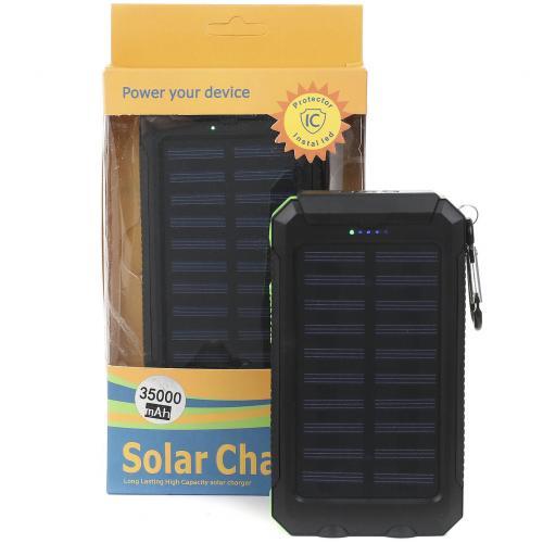 Внешний аккумулятор на солнечных батареях Solar Charger 35000 mah оптом