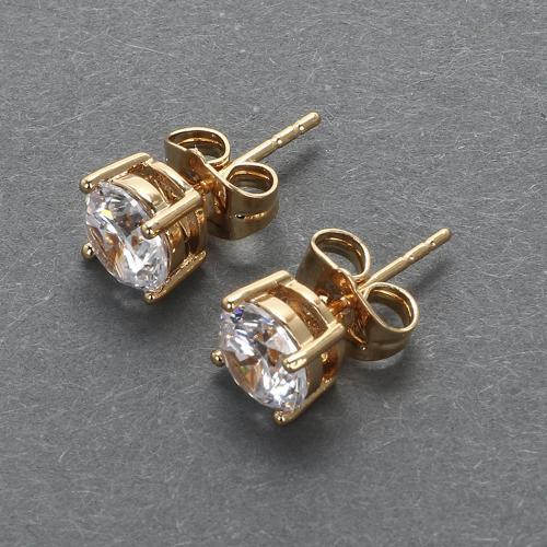 Серьги гвоздики с кристаллами 8 мм оптом