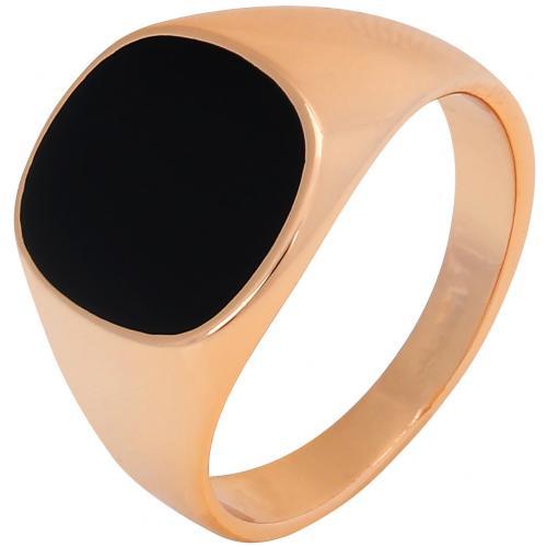 Кольцо с черной эмалью оптом