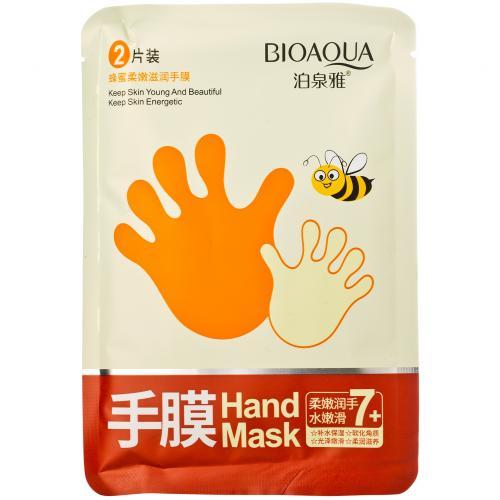 Медовая маска для рук Bioaqua 1 пара оптом