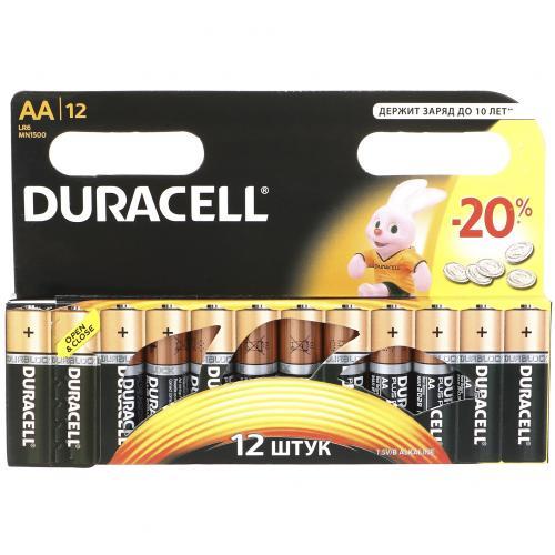 Батарейки Duracell AA пальчиковые 12 шт оптом