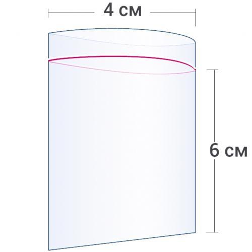 Пакет с замком Zip Lock 4 х 6 см оптом