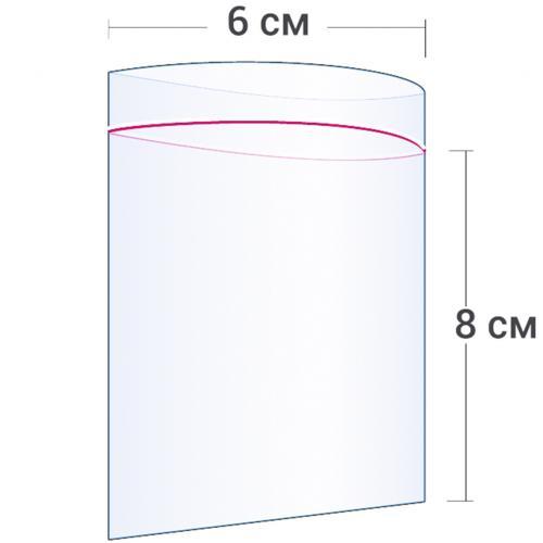 Пакет с замком Zip Lock 6 х 8 см оптом