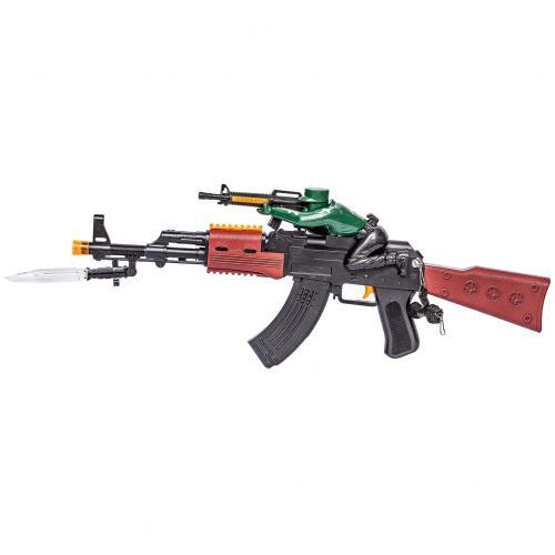 Игрушечный автомат АК-47 с солдатиком оптом