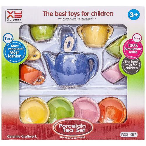 Набор цветной детской посуды Porcelain Tea Set оптом