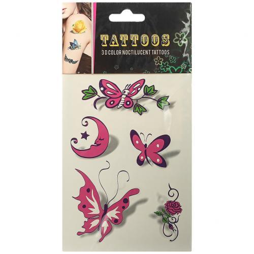 Временные татуировки Tattoos 3D Color Бабочки оптом