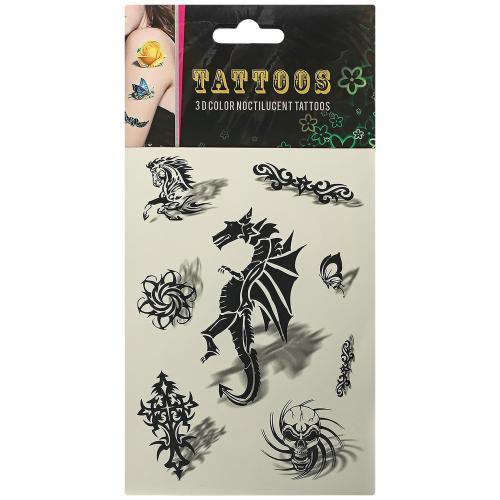 Временные татуировки Tattoos 3D Color Драконы оптом