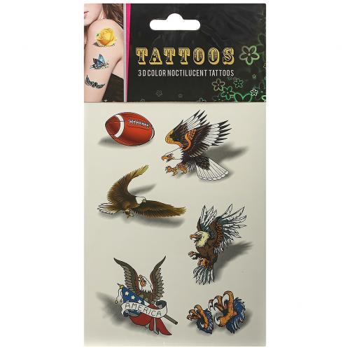 Временные татуировки Tattoos 3D Color Птицы оптом