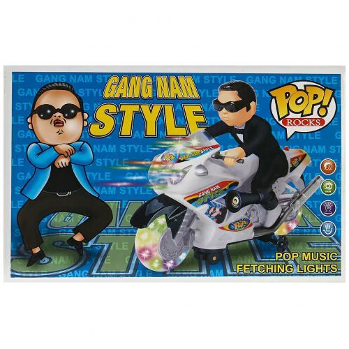 Музыкальная игрушка PSY Gang Nam Style на мотоцикле оптом
