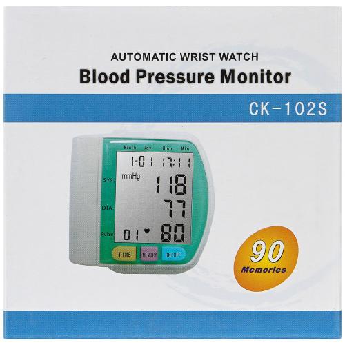 Цифровой тонометр на запястье Blood Pressure Monitor CK-102S оптом