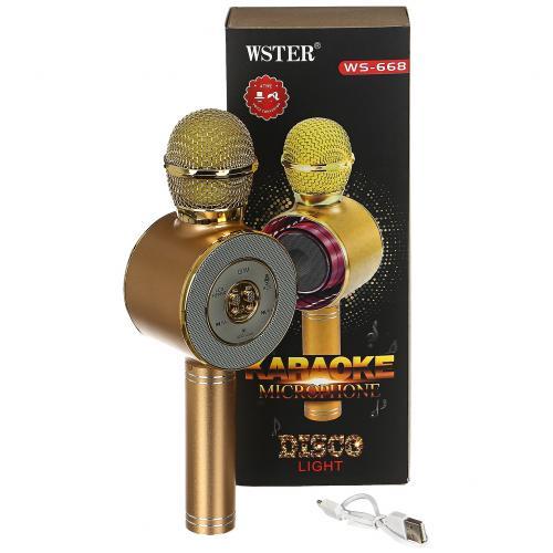 Караоке микрофон Wster Disco Light WS-668 оптом
