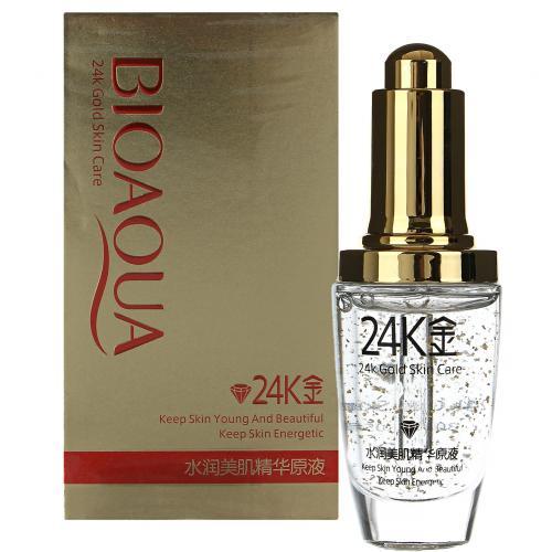 Сыворотка с частицами золота и гиалуроновой кислотой BioAqua 24K Gold Skin Care 30 ml оптом