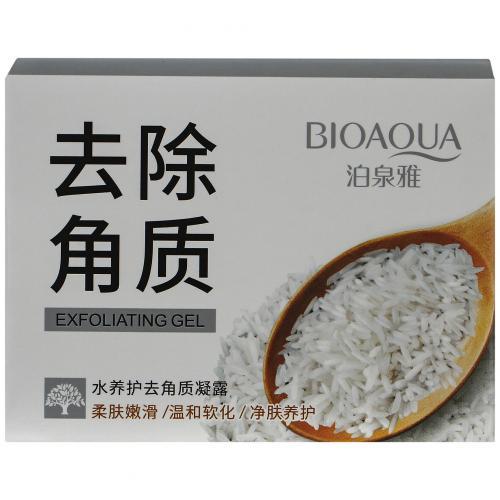 Гель-скатка с рисовым экстрактом BioAqua Brightening & Exfoliating Gel 140 гр оптом