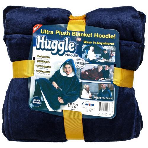 Толстовка плед с капюшоном Huggle Hoodie оптом