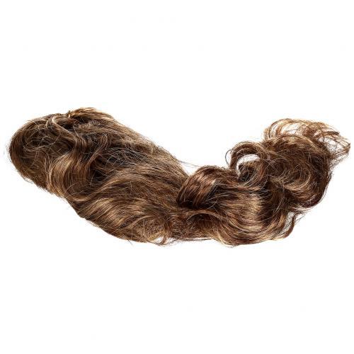 Парик каштановый из длинных волнистых волос оптом