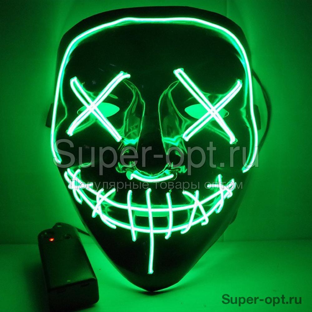 Светящаяся неоновая маска оптом