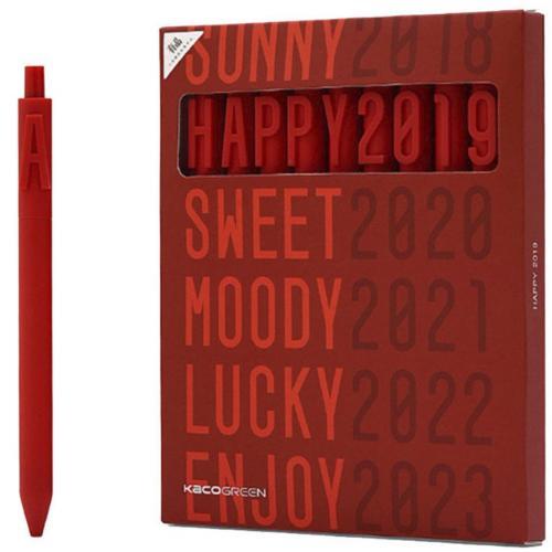 Набор гелевых ручек Xiaomi Alpha Letter Gel Pen Happy New Year 9 шт оптом