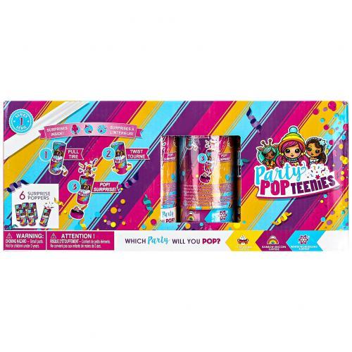 Набор кукол в капсуле Party Pop Teenies 6 шт оптом