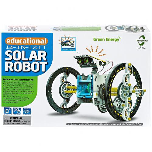 Конструктор на солнечных батареях 14 в 1 Educational Solar Robot оптом