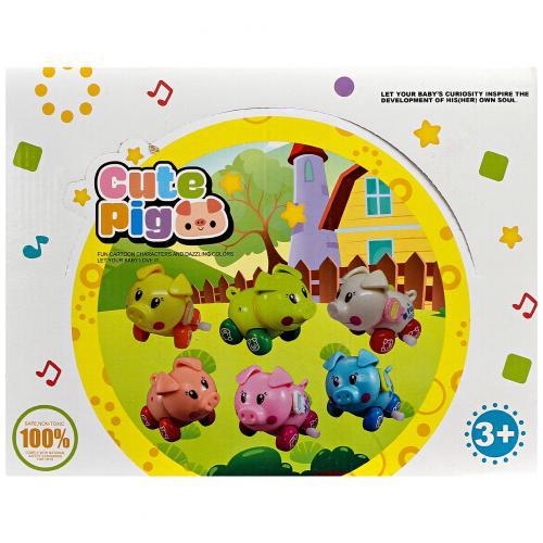 Набор заводных свинок Cute Pig 12 шт оптом
