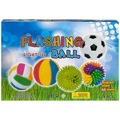 Игрушка-антистресс Flashing Light-up Ball 24 шт оптом