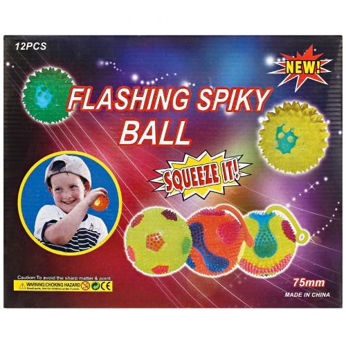 Игрушка-антистресс с шипами Flashing Spiky Ball 12 шт оптом