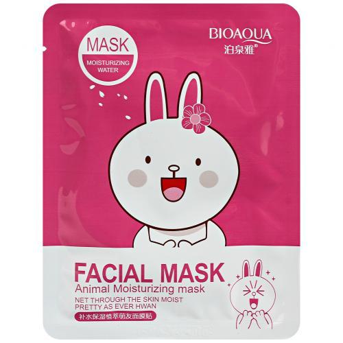 Маска с эссенцией вишневого цвета Bioaqua Facial Mask Animal оптом