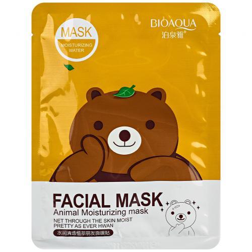 Маска с эссенцией зеленого чая Bioaqua Facial Mask Animal оптом