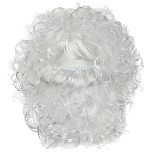 Карнавальная борода и парик Деда Мороза оптом
