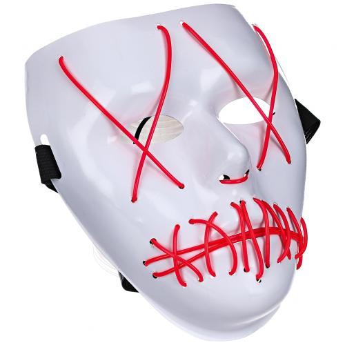 Светящаяся неоновая маска Призрак оптом